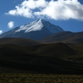 Snowy mountains in Bolivia