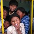 Bolivian kids at school
