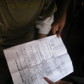 Itay ented an apartment. this is the contract. life is simple in Africa