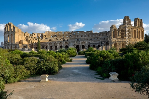El Djem, the ruins of the largest colosseum in North Africa