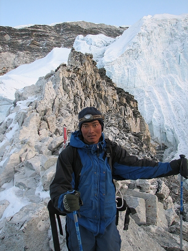 Climbing guide Kami Sherpa helps mountaineers navigate Mt. Everest's impossible terrain.